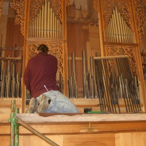 Julbach Wiederaufbau der Orgel