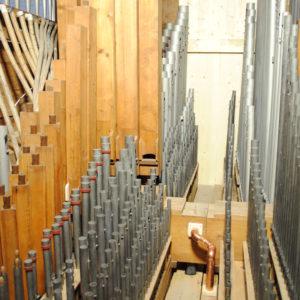 Löberitz - Blick ins Orgelinnere nach der Instandsetzung