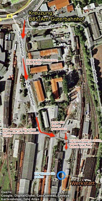 Karte Standort Orgelbau Werkstatt Rösel & Hercher
